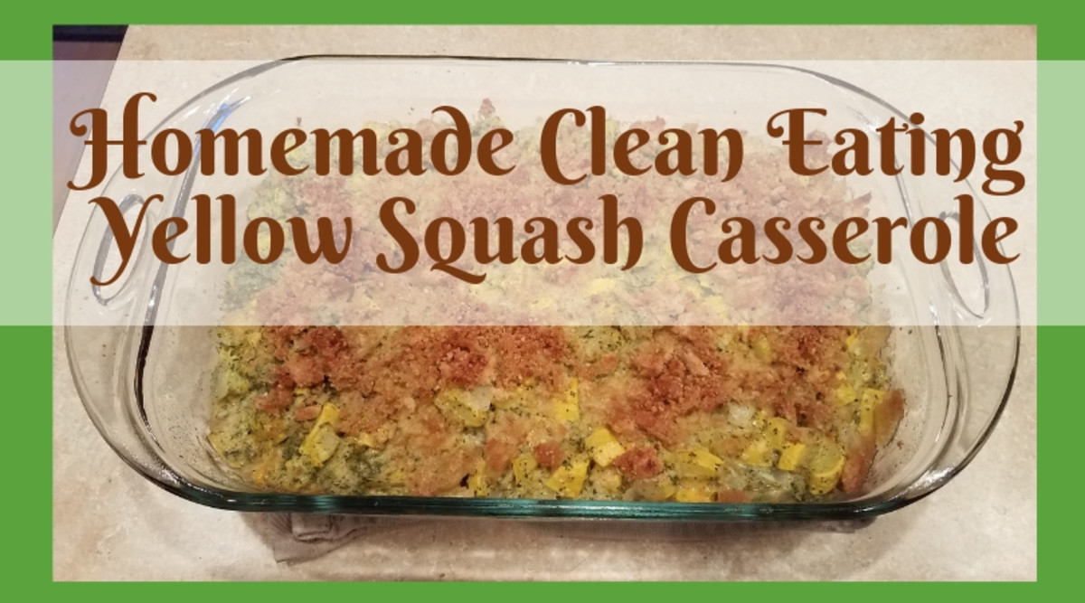 Homemade Clean Eating Yellow Squash Casserole