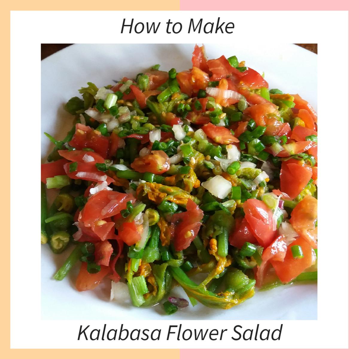Learn how to make kalabasa flower salad