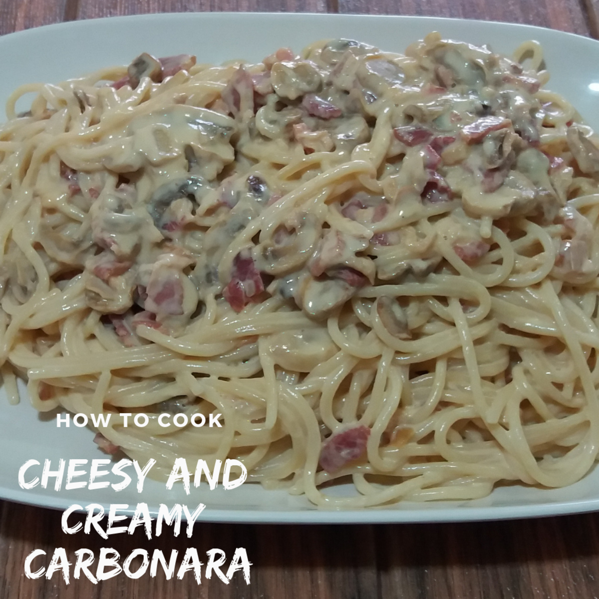 How to cook cheesy and creamy carbonara.