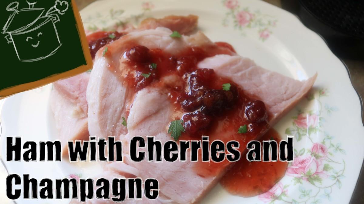 Cherry and Champagne Glazed Ham
