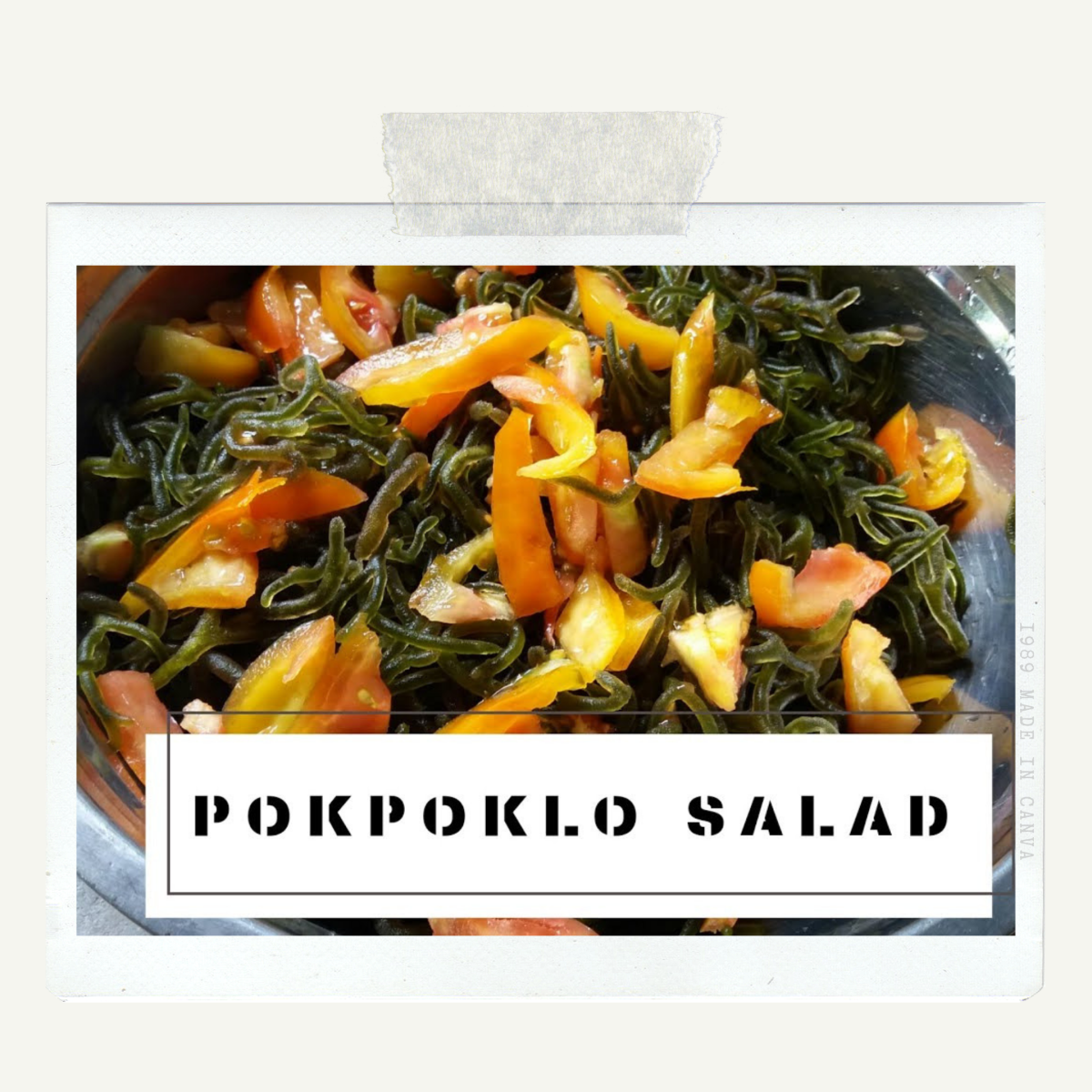 How to Make Pokpoklo (Seaweed) Salad