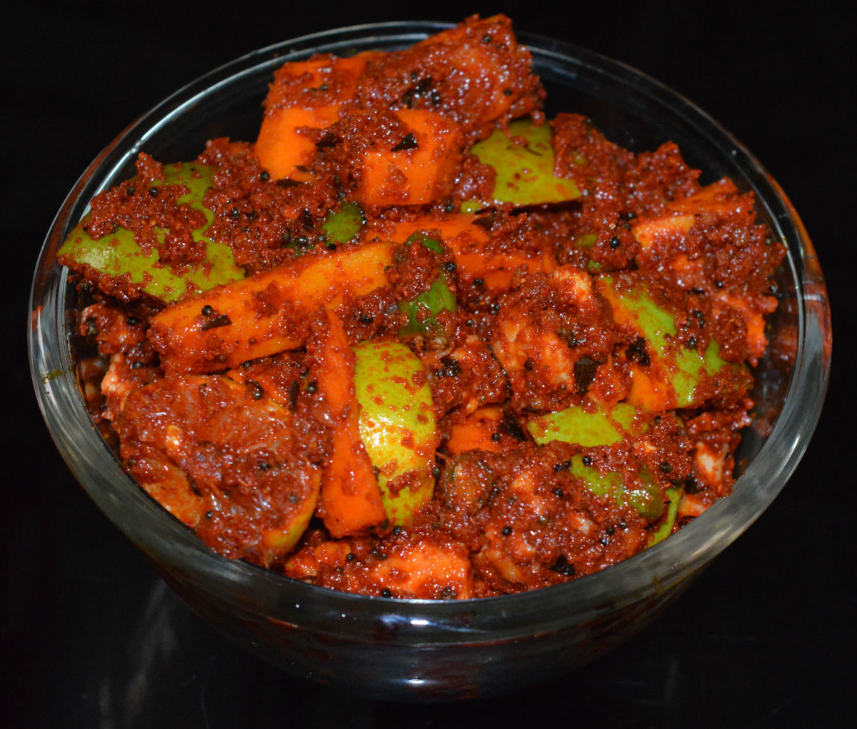 Tasty mixed vegetable pickle takes only 12 minutes to make!