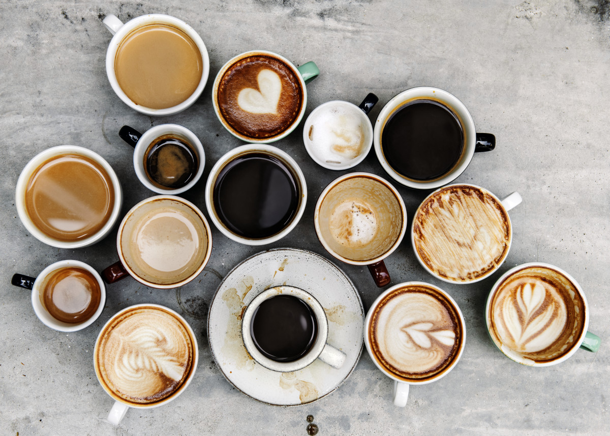 Coffee drinks come in many shapes and sizes.