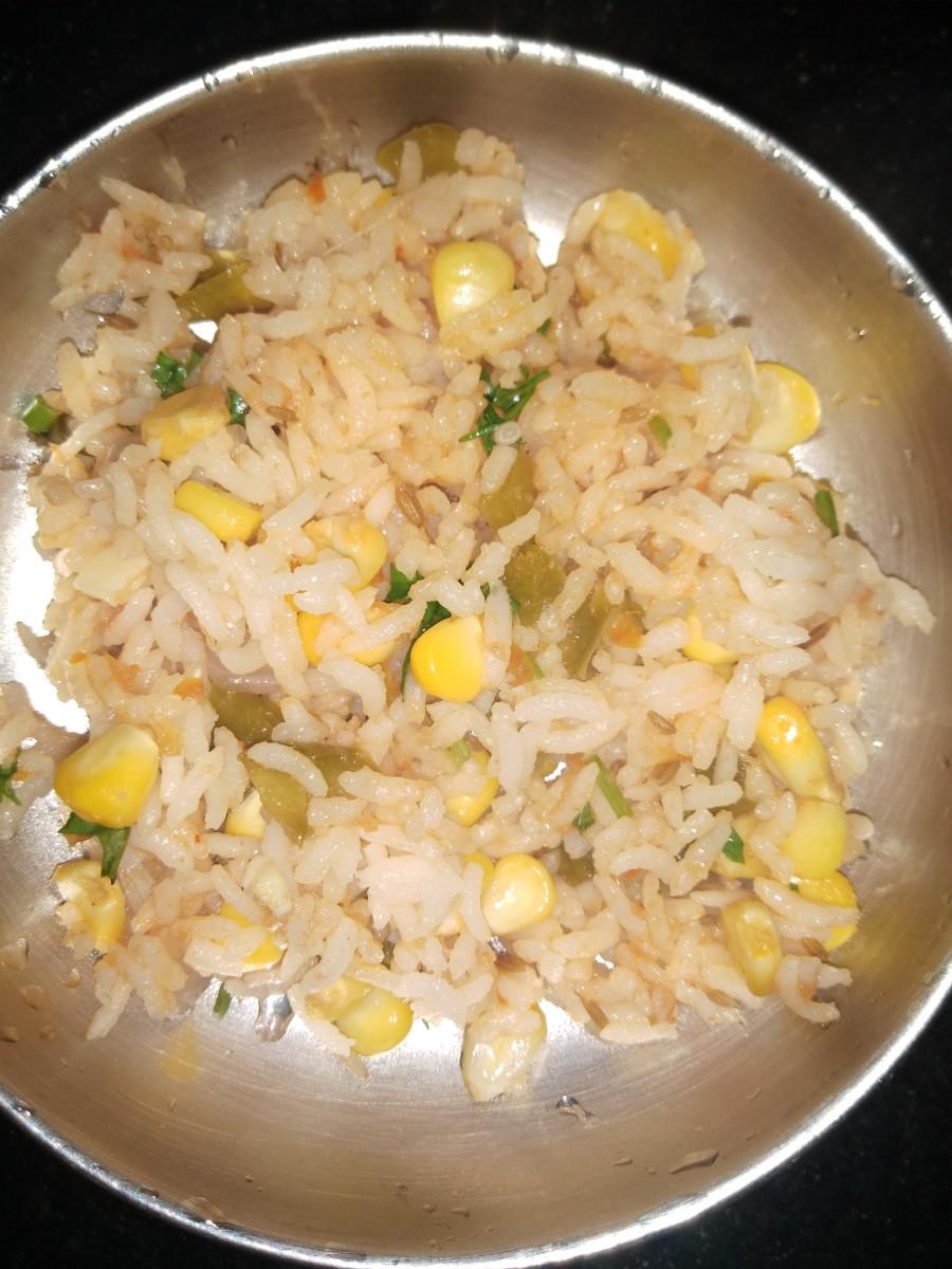 Sweet corn rice.
