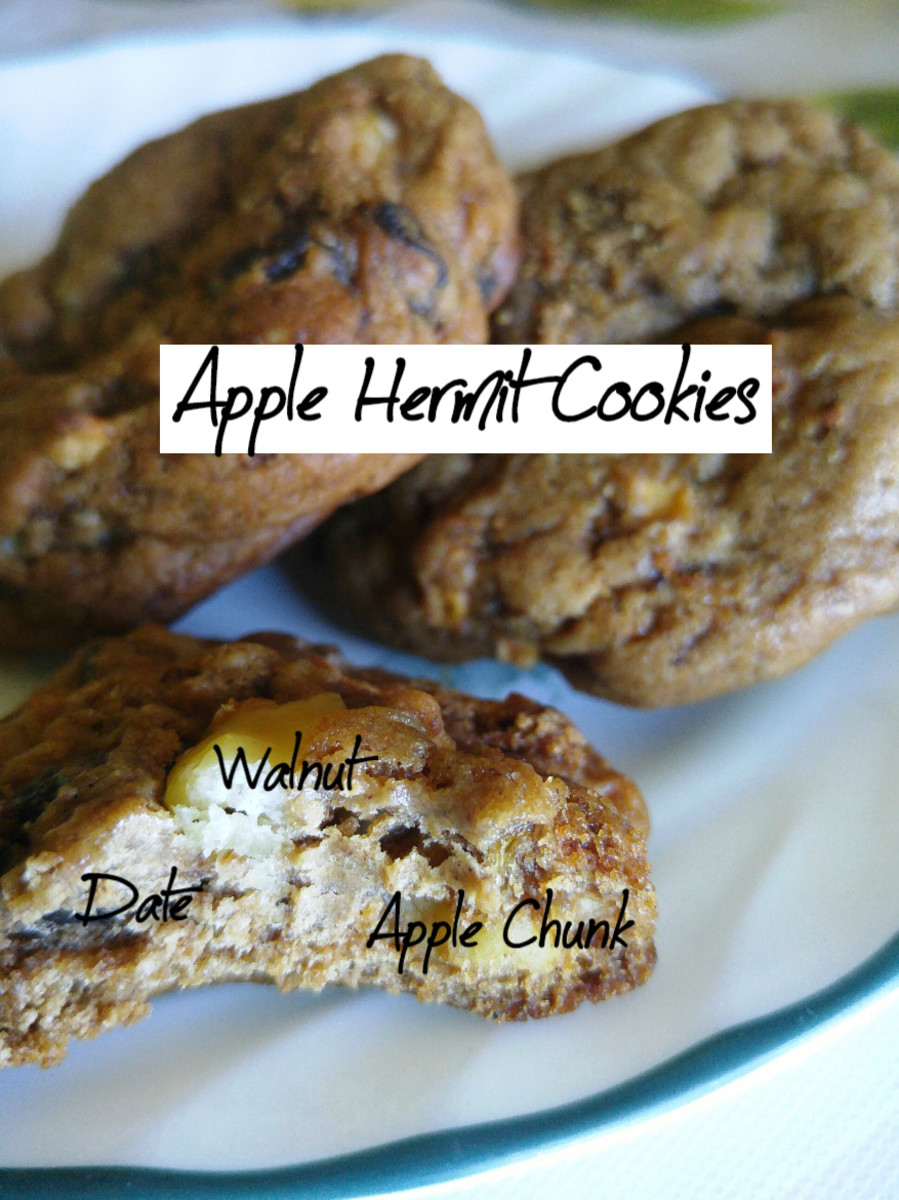 The anatomy of a vegan apple hermit cookie.