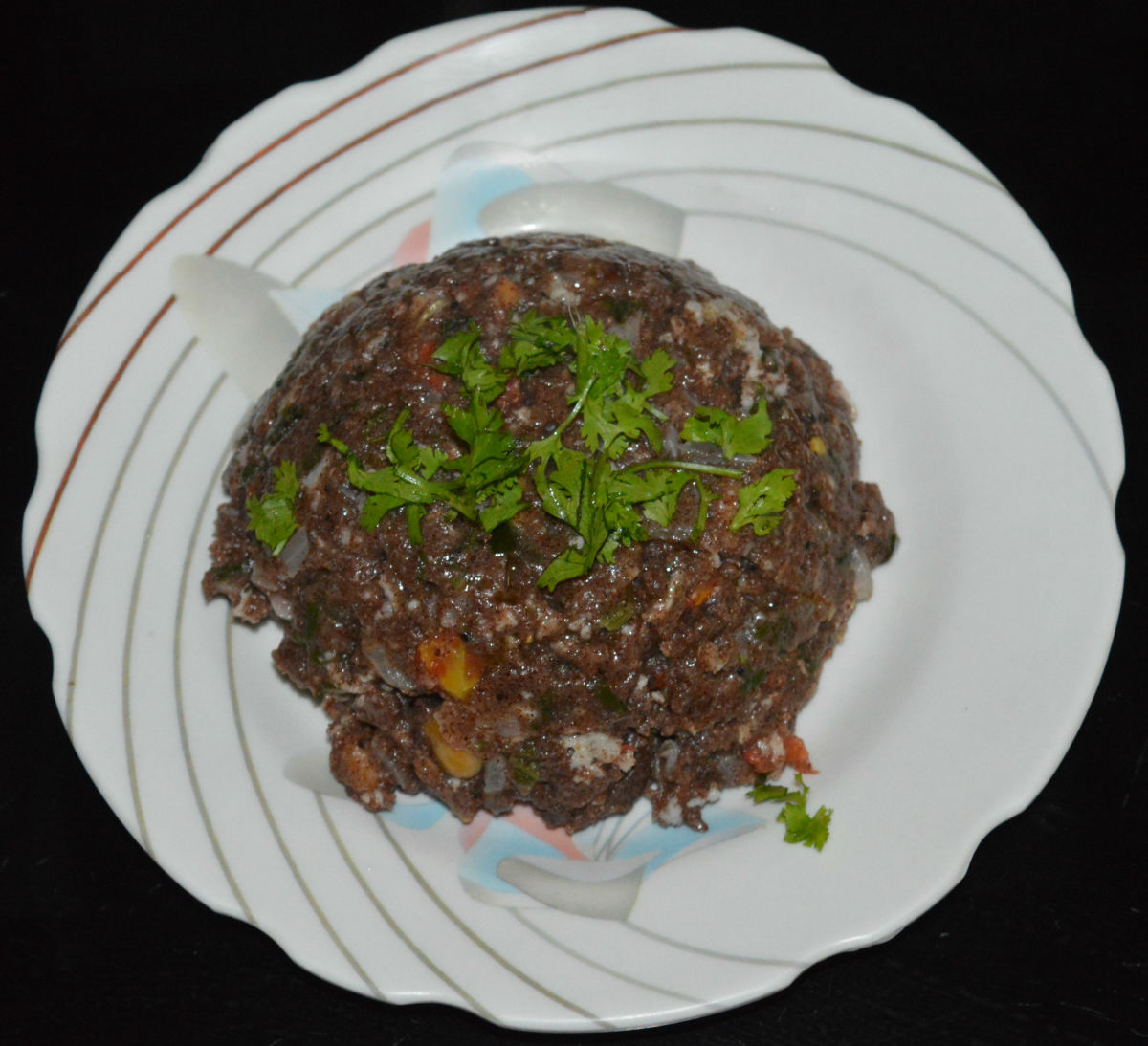 Ragi upma (savory finger millet porridge).
