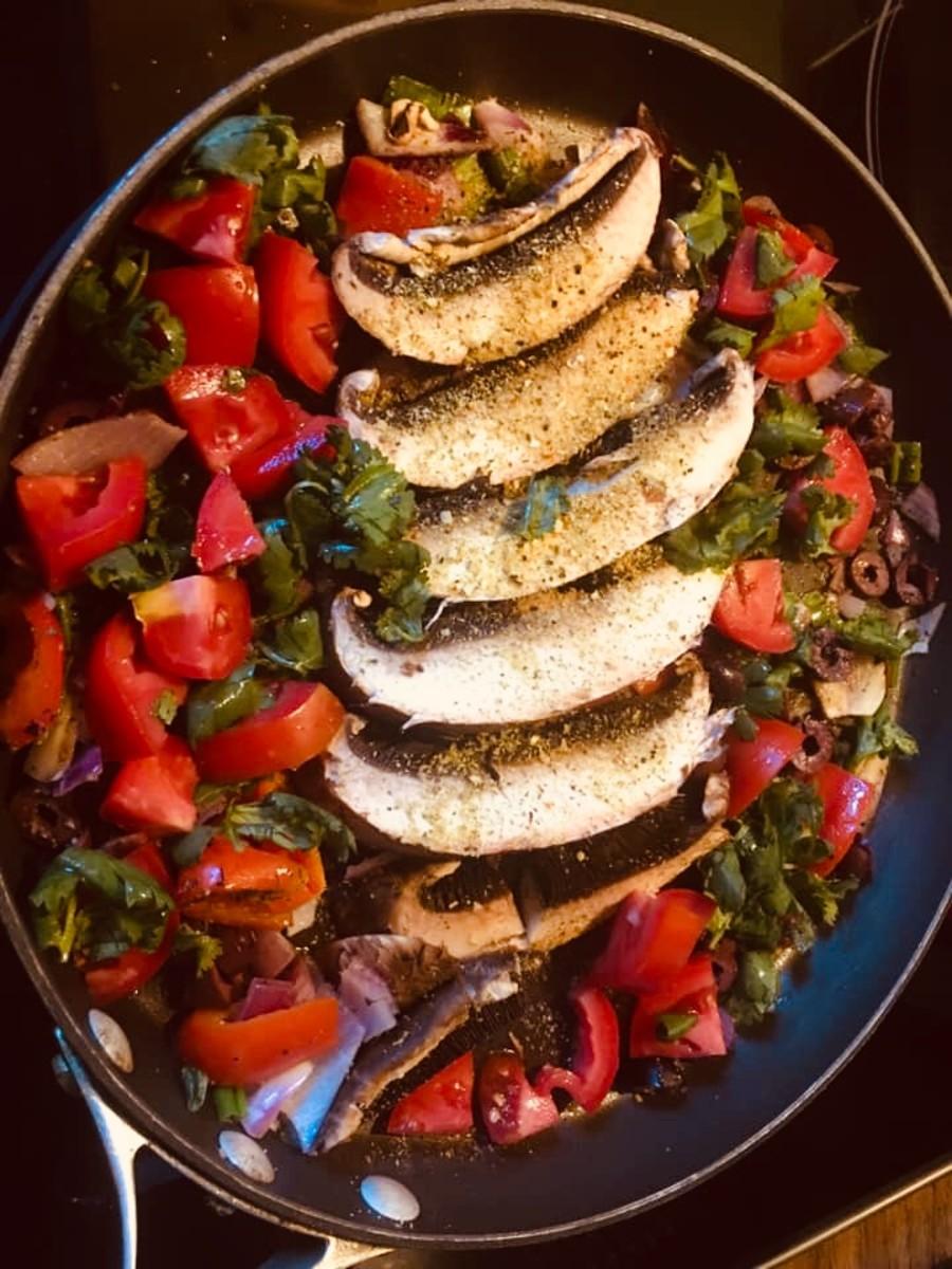 Vegan portabella mushroom dish