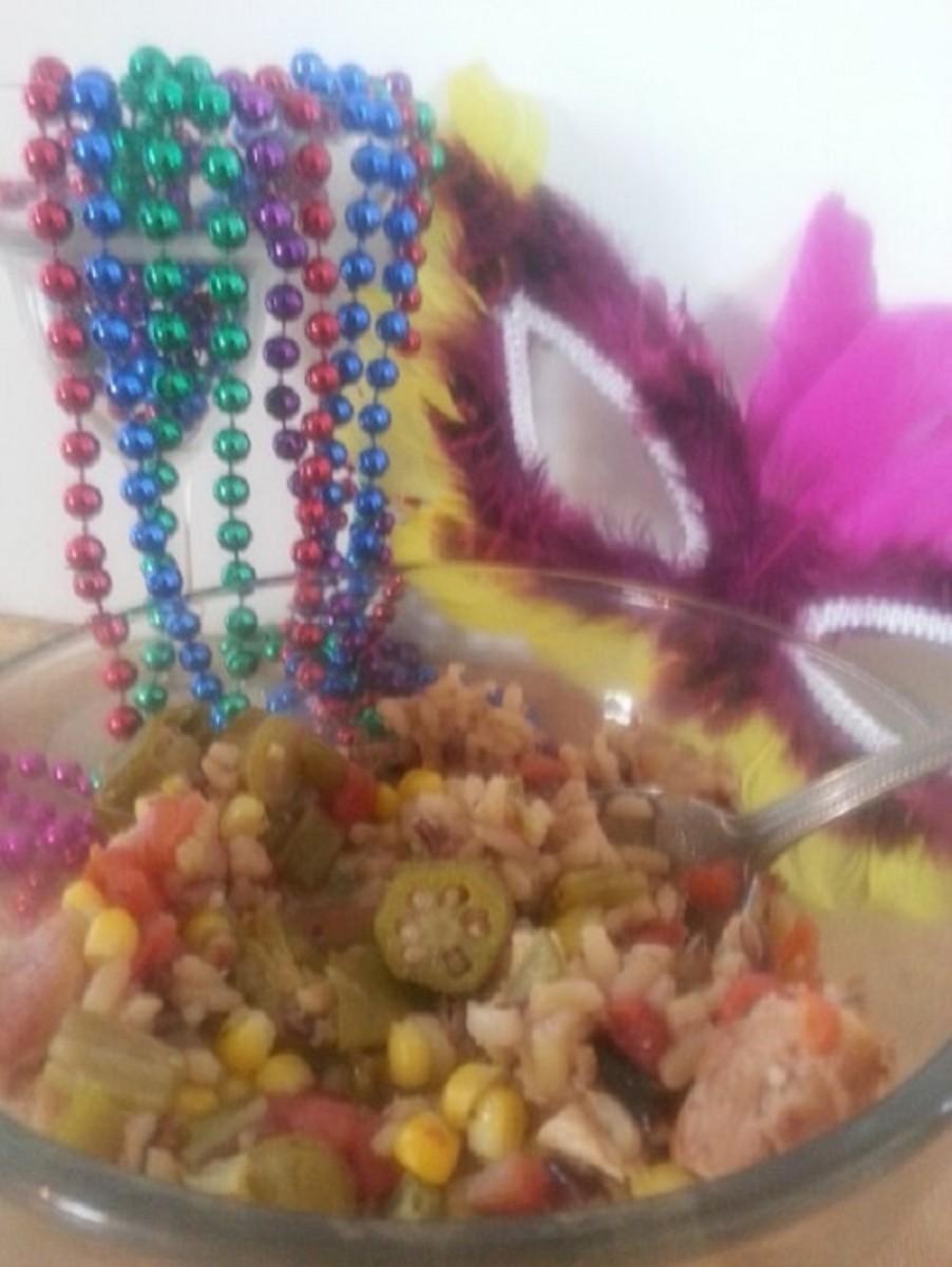 Celebrate Mardi Gras with a bowl of Cajun chicken gumbo
