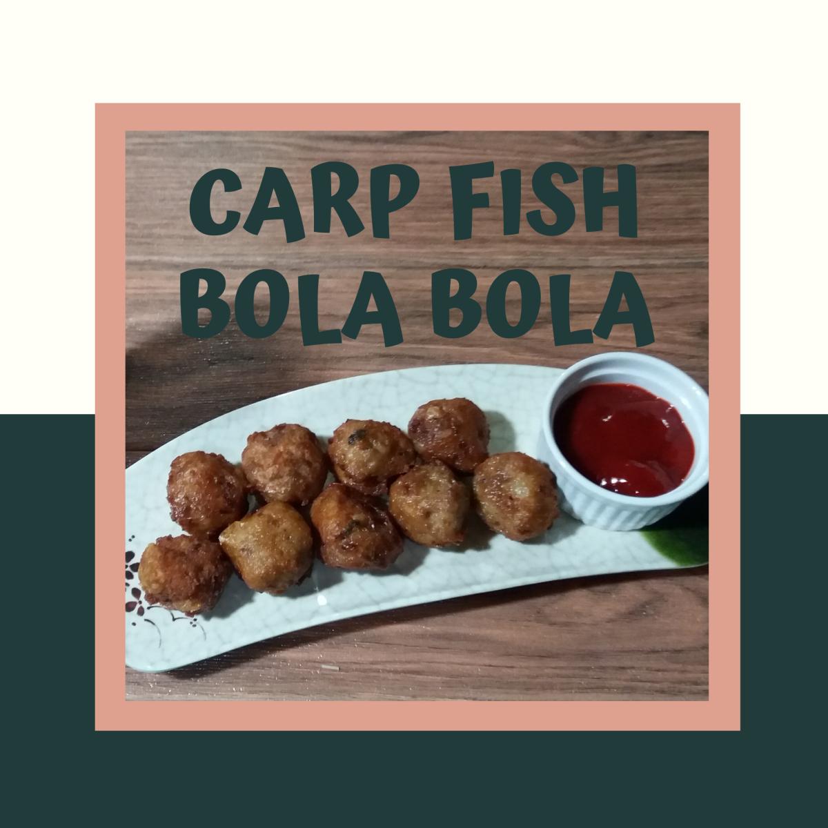 Filipino-style carp fish bola bola