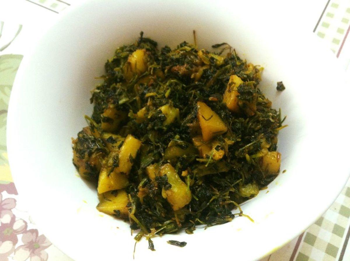 Aloo Methi Punjabi Recipe (Fenugreek Potato Curry)