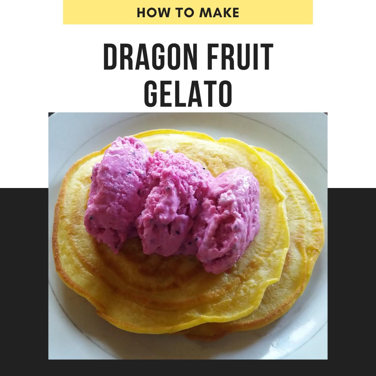 Dragon fruit gelato