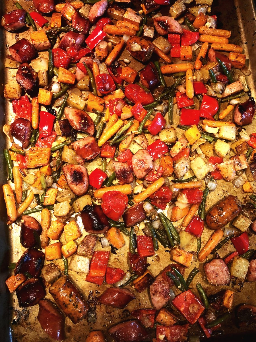 Roasted Sausage and Vegetable Sheet Pan Dinner