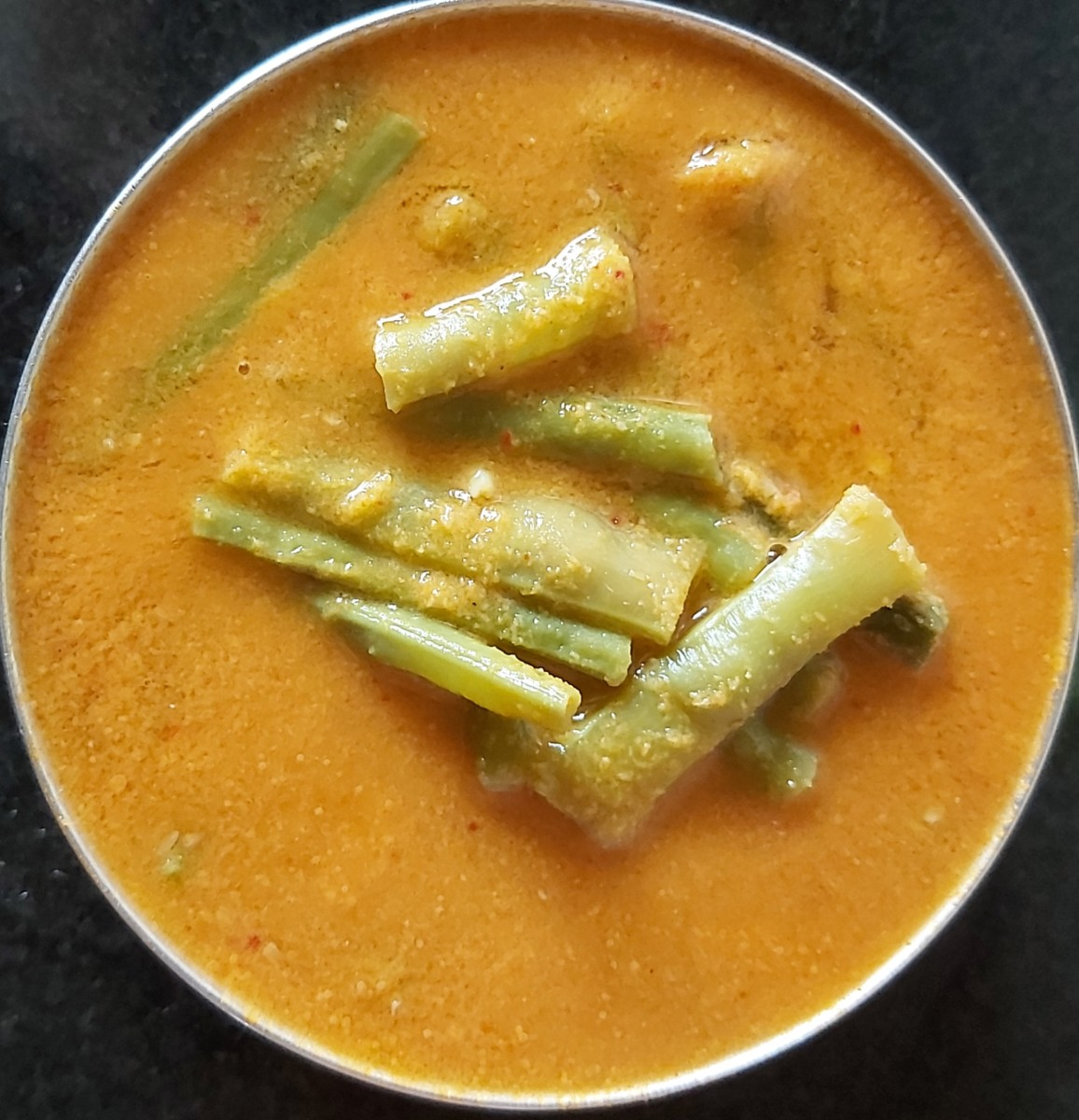 Mangalore-style sambar with long beans