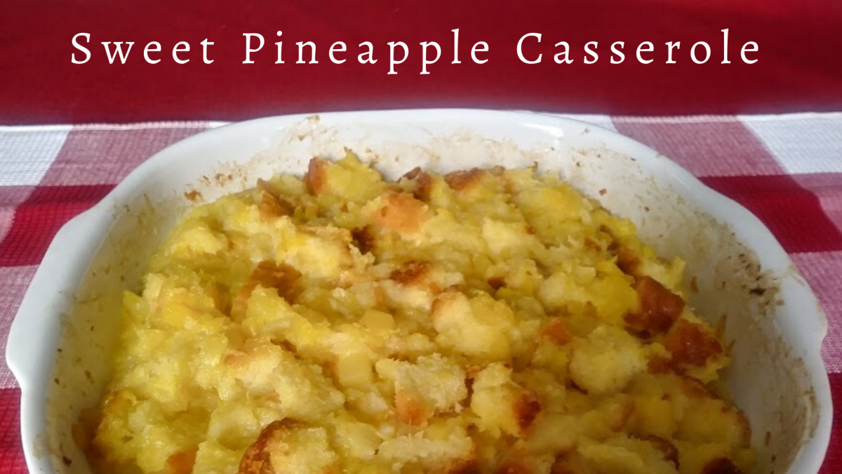This sweet and delicious pineapple casserole can be enjoyed warm or cold year-round.