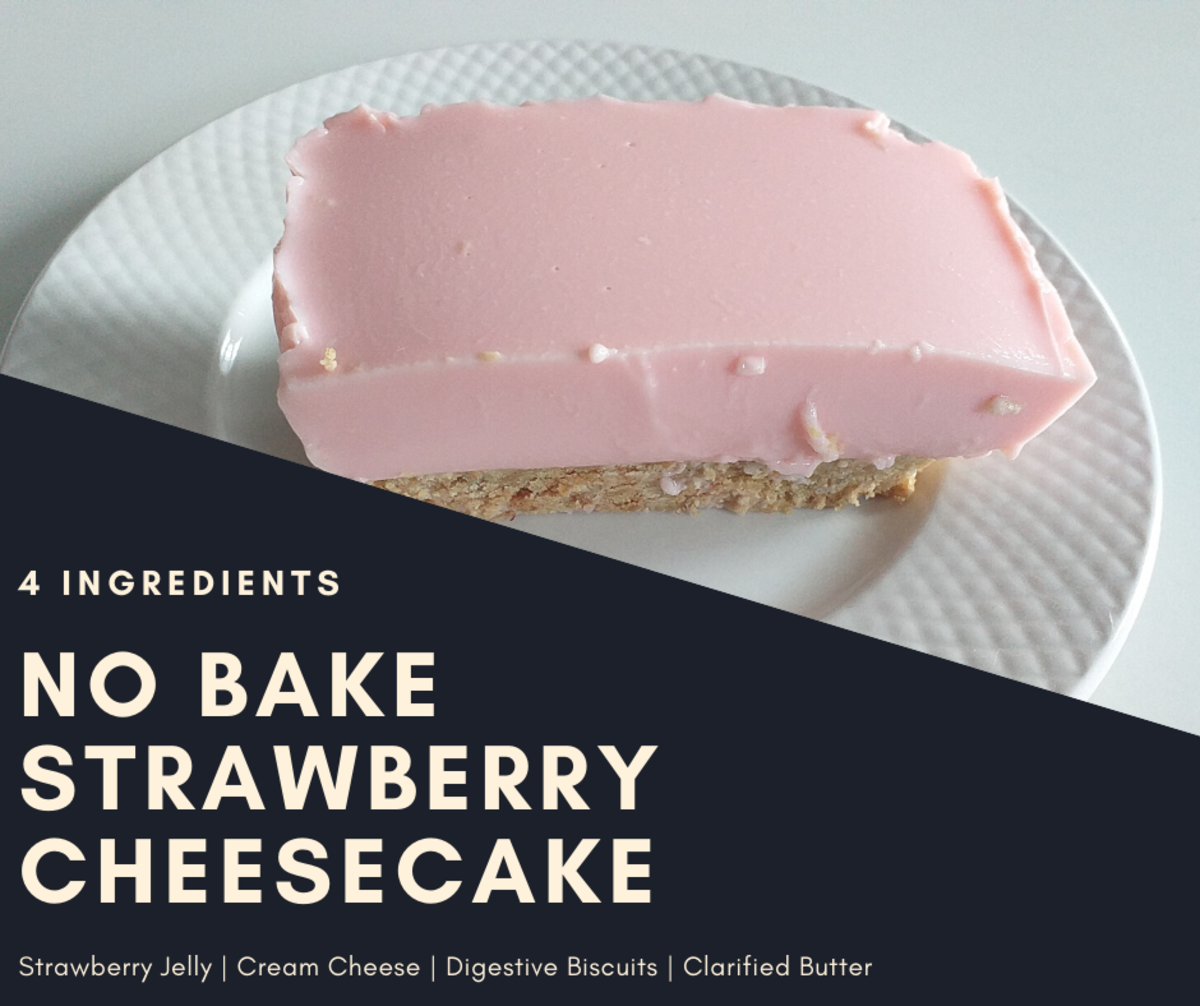 This strawberry cheesecake calls for only four ingredients and doesn't need to be baked!