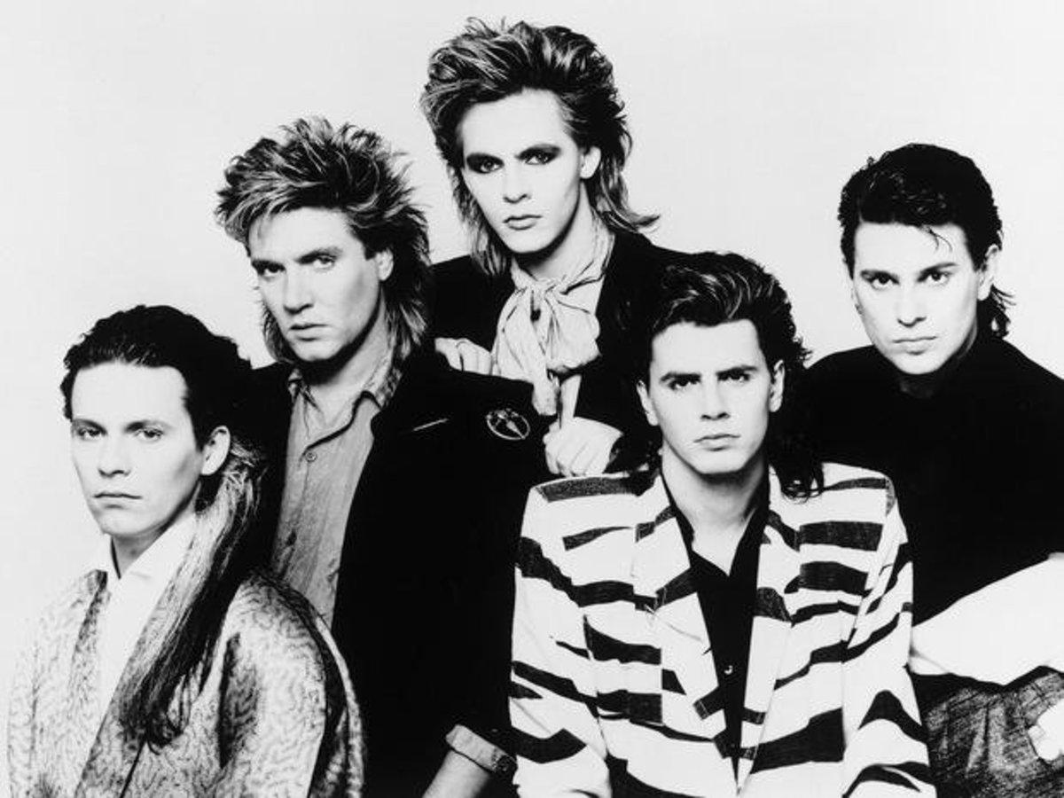 Duran Duran in 1984 (Taylor/Le Bon/Rhodes/Taylor/Taylor)