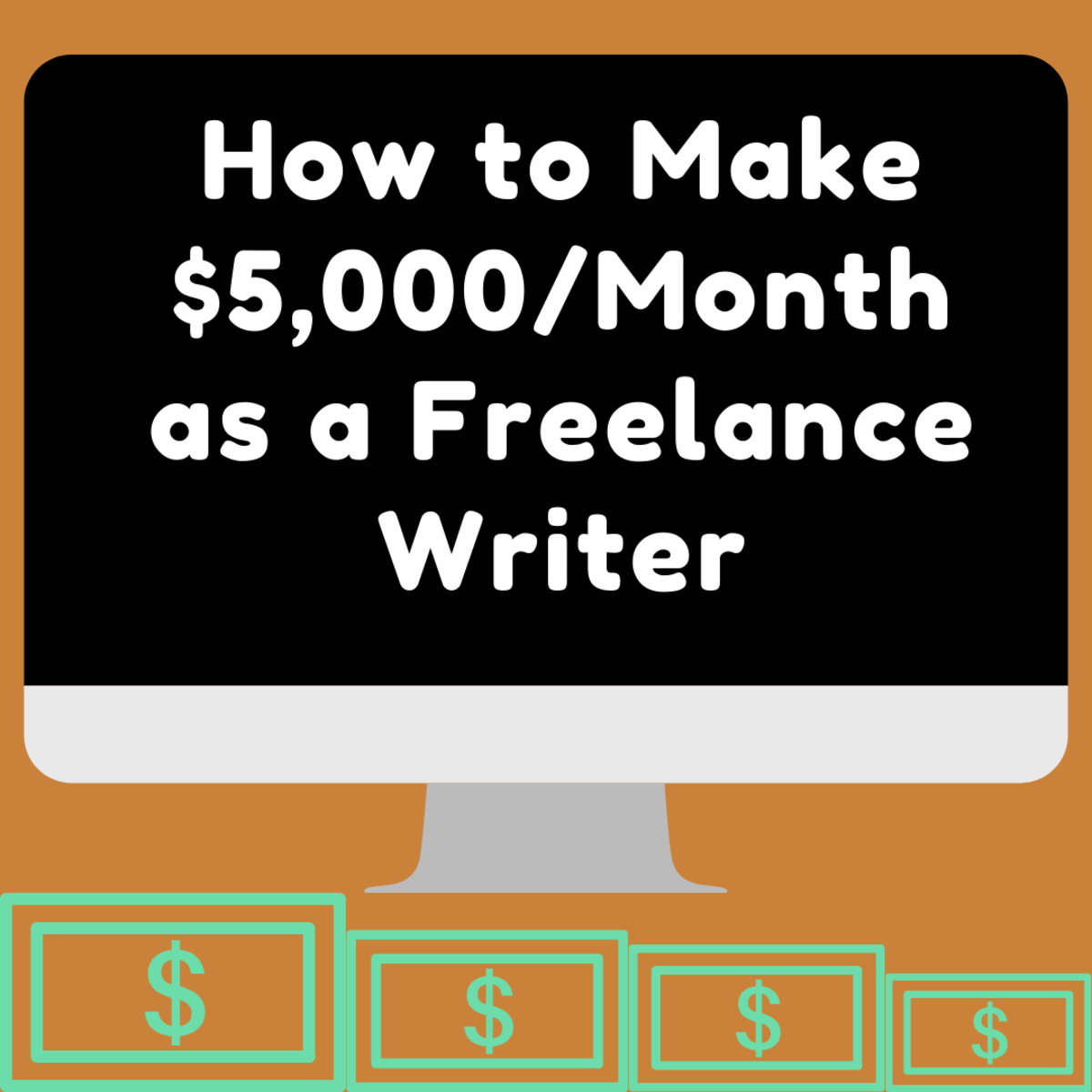 Earn $5,000 a month as a freelance writer and leave your boring old job behind!