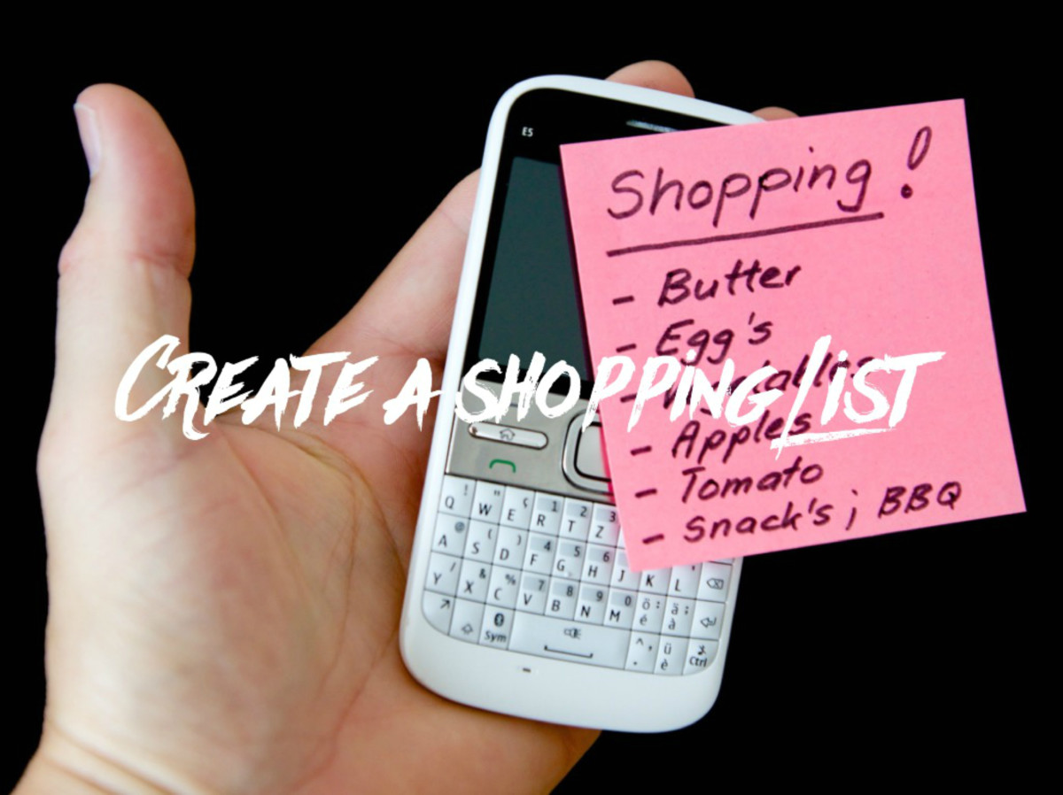 You can arrange your shopping list by food type