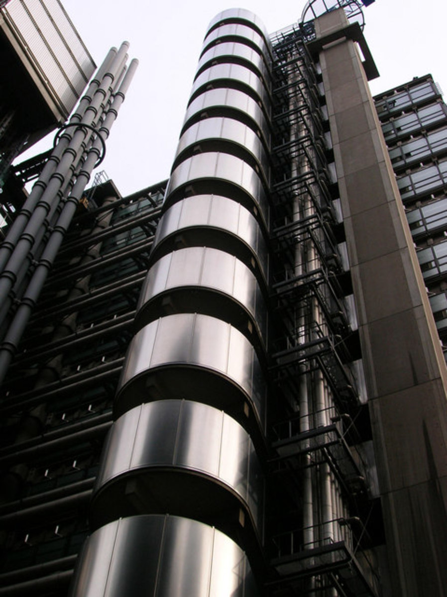 The iconic Lloyds of London building serves as a global symbol of the insurance industry.