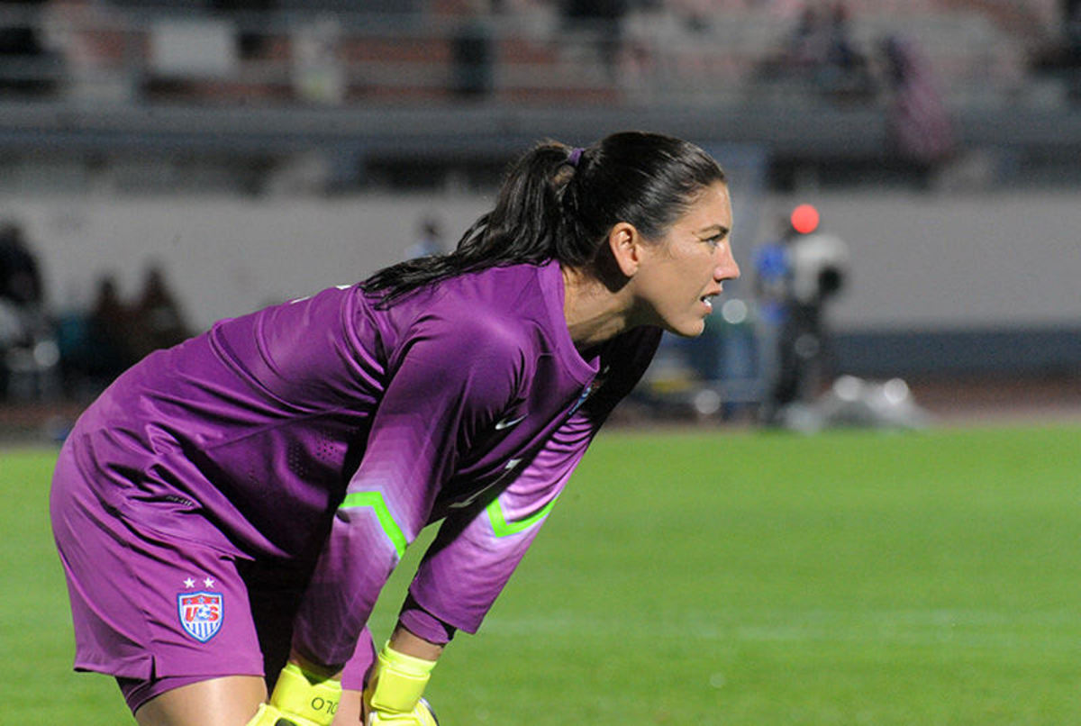 Hope Solo in Action on the Field