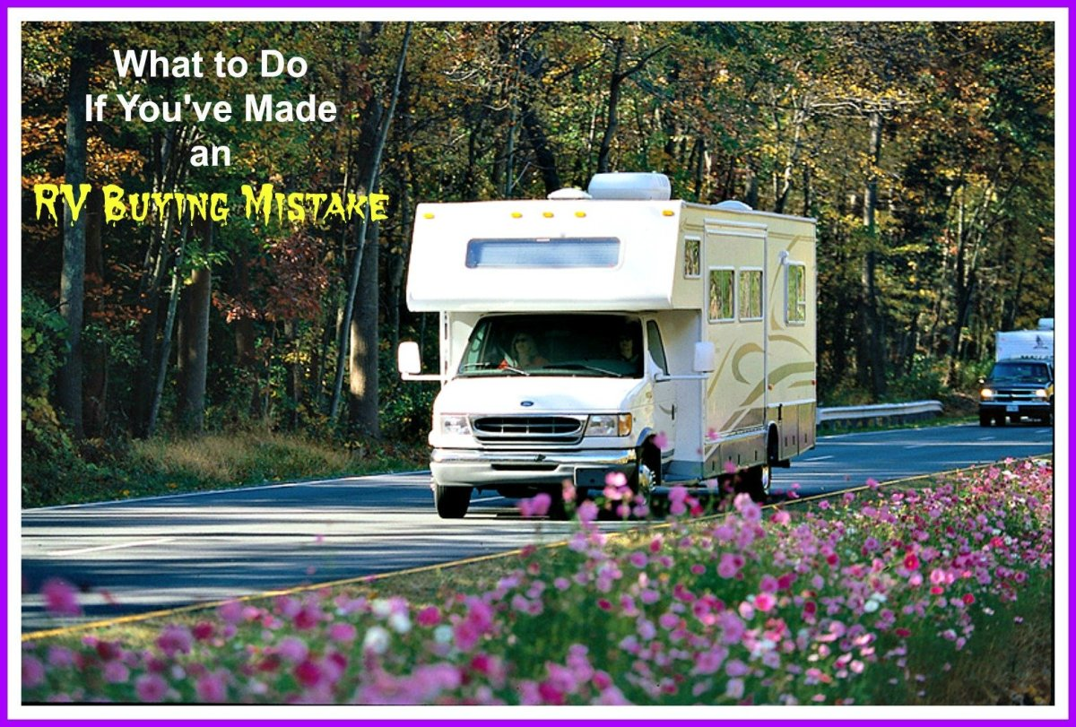How to deal with problems you've created by purchasing an RV with problems!