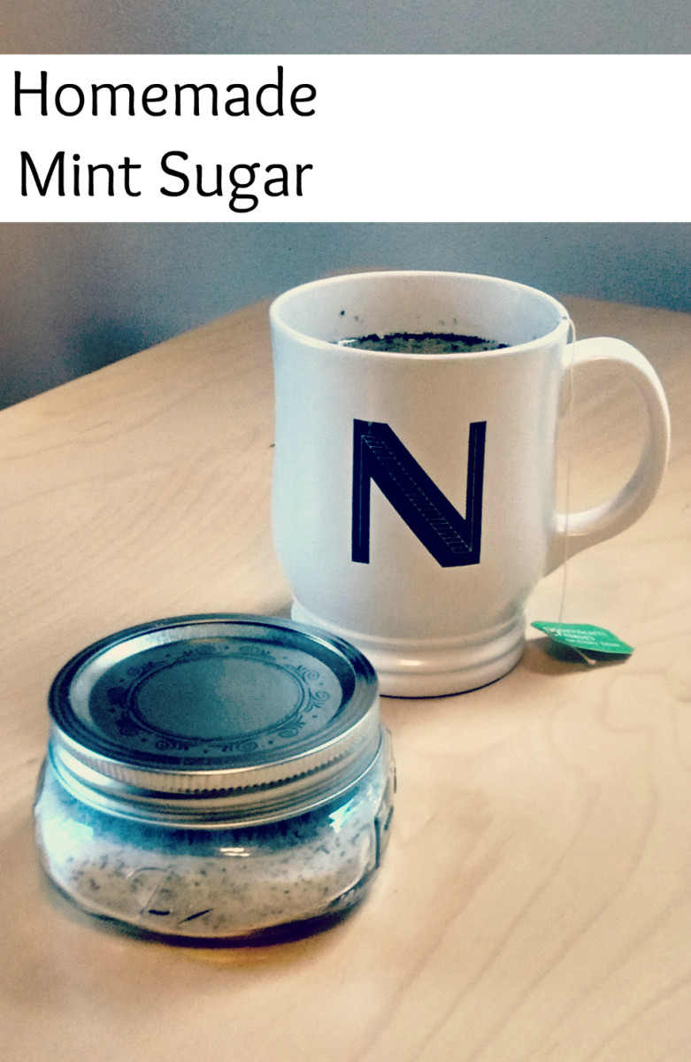 Make your own mint sugar!