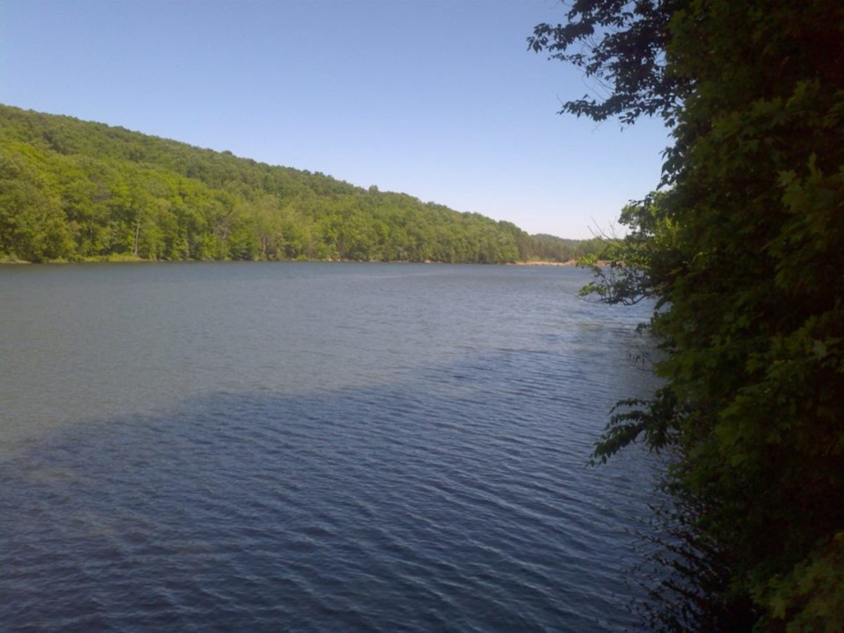 An incredible view of Turkey Creek Lake at Shawnee State Park.