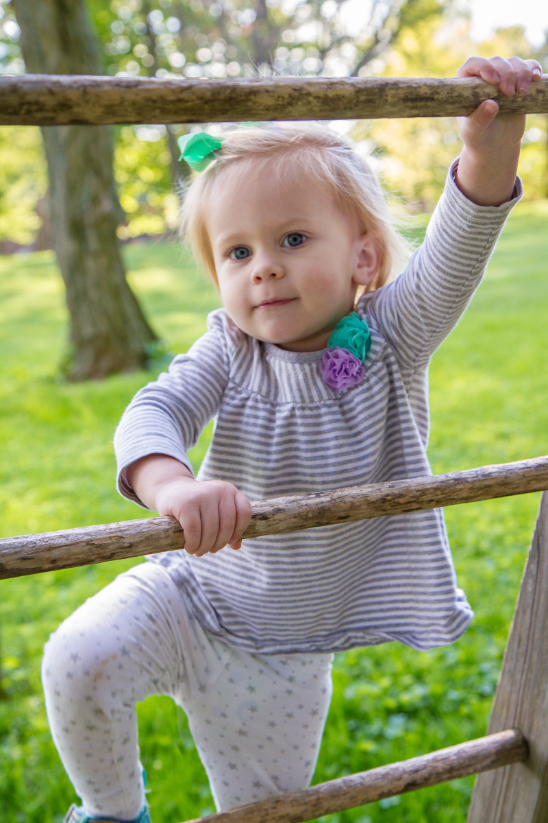 Climbing, running, jumping, and tumbling are all crucial to a child's gross motor development.