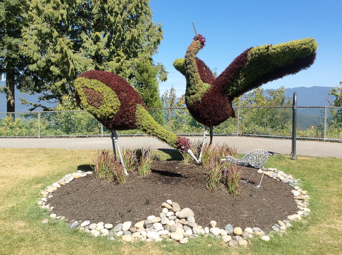 Eco-Sculptures in Burnaby: Animals Made From Metal and Plants