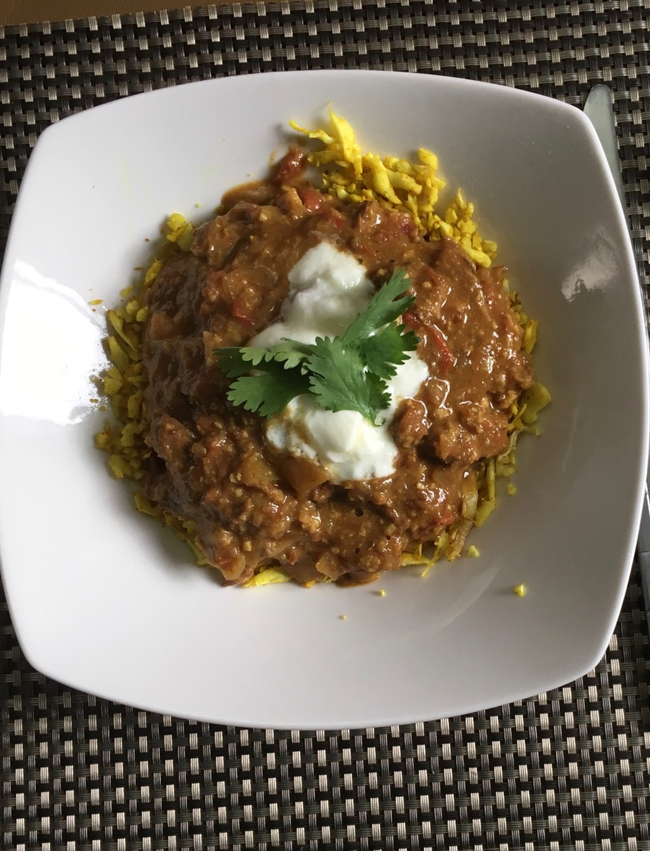 Cauliflower Rice With Paleo Curry