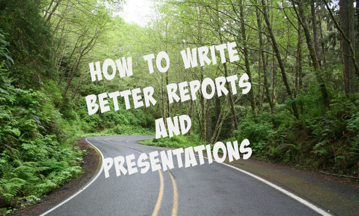 Think of reports and presentations as a journey--for you and your audience.