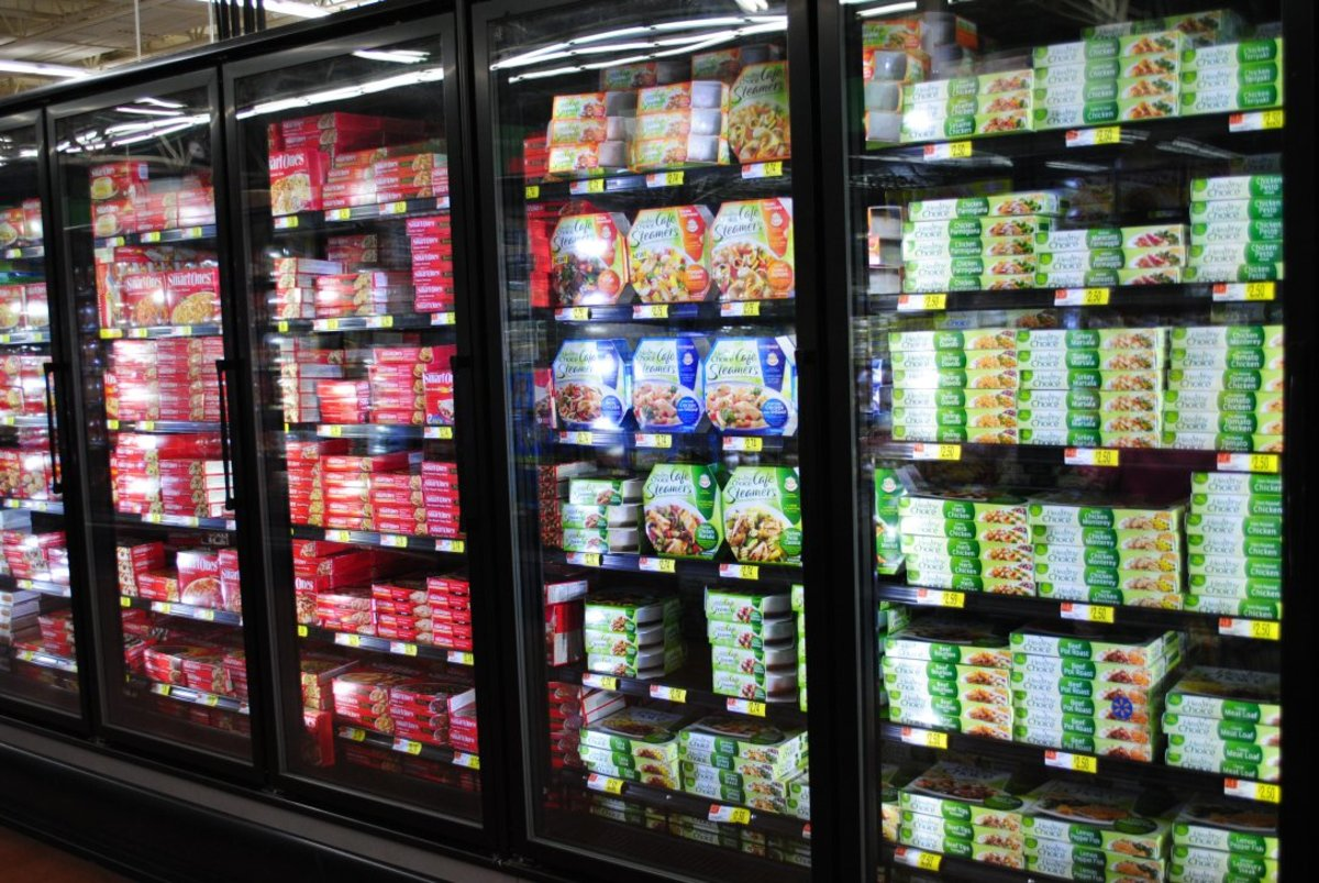 The frozen food section at a grocery store is often enticing