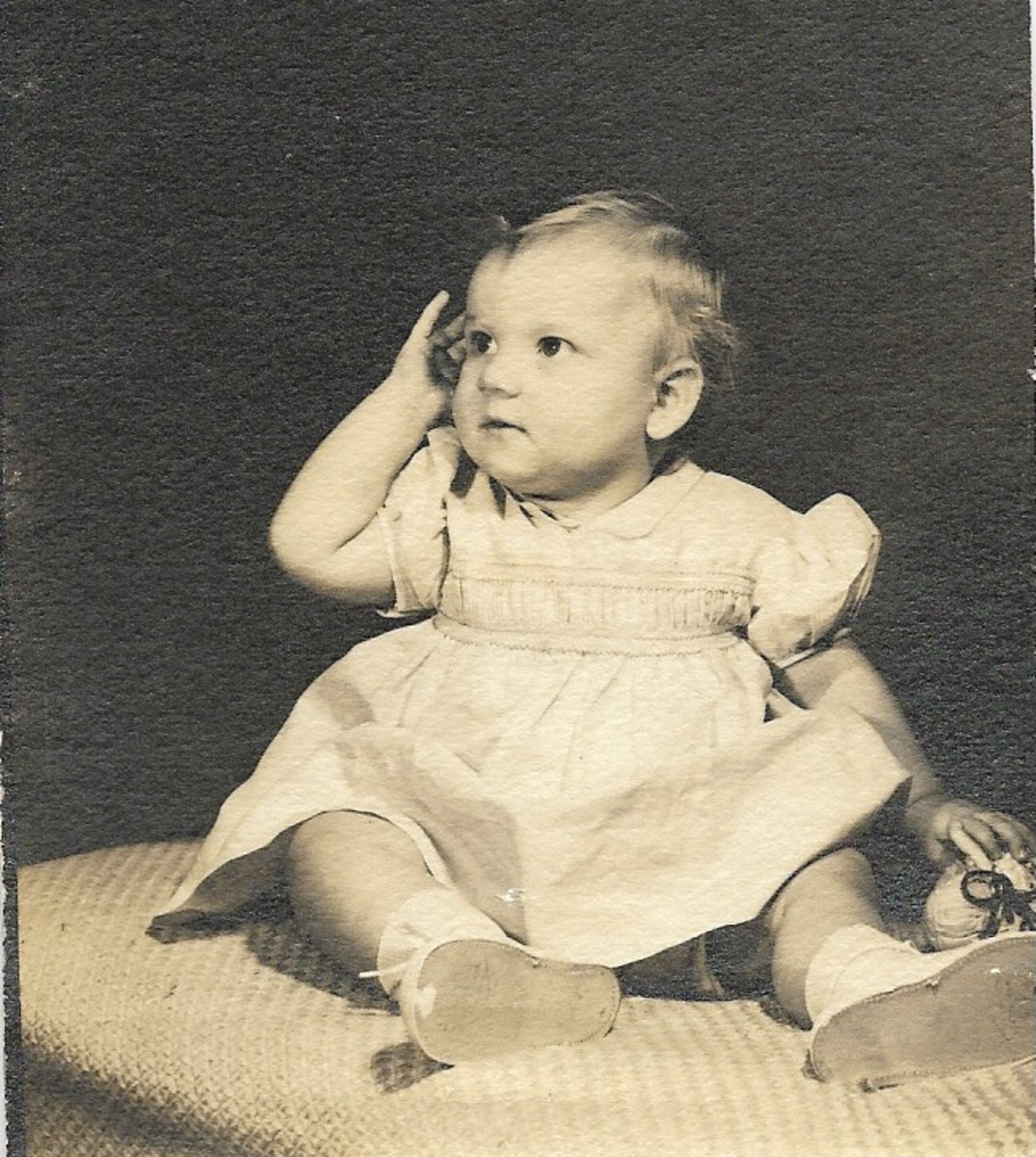 I was a year old in this picture, the only one I have of myself as a baby.