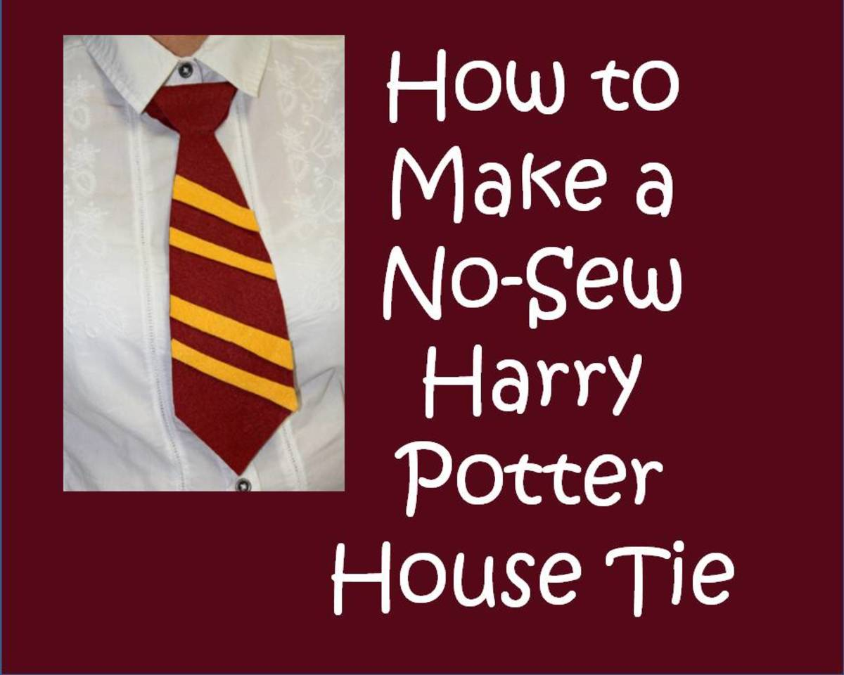 how to make a no sew harry potter house tie easy instructions for making an inexpensive costume. Black Bedroom Furniture Sets. Home Design Ideas