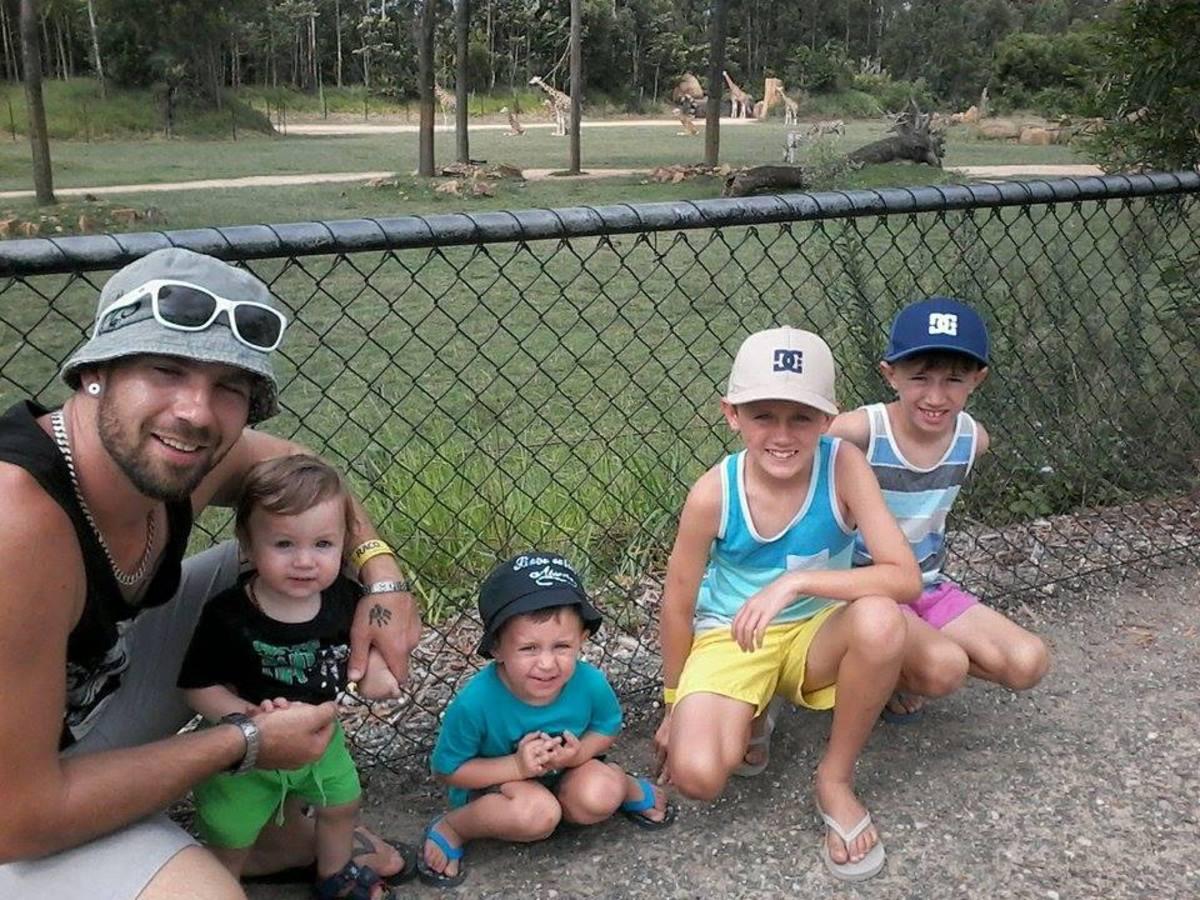Son Jared, and grandsons Dylan, Jordan, Timothy and Ashton