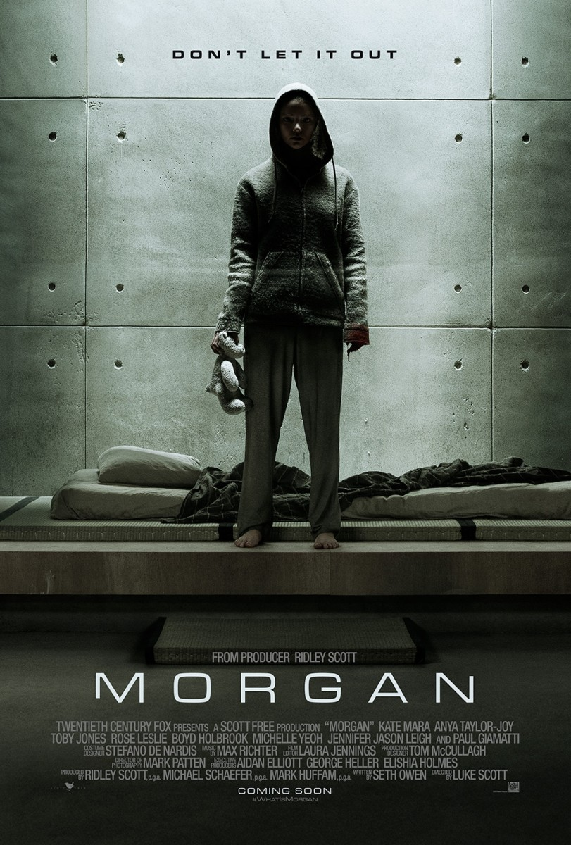 "The official one-sheet theatrical poster for ""Morgan."""