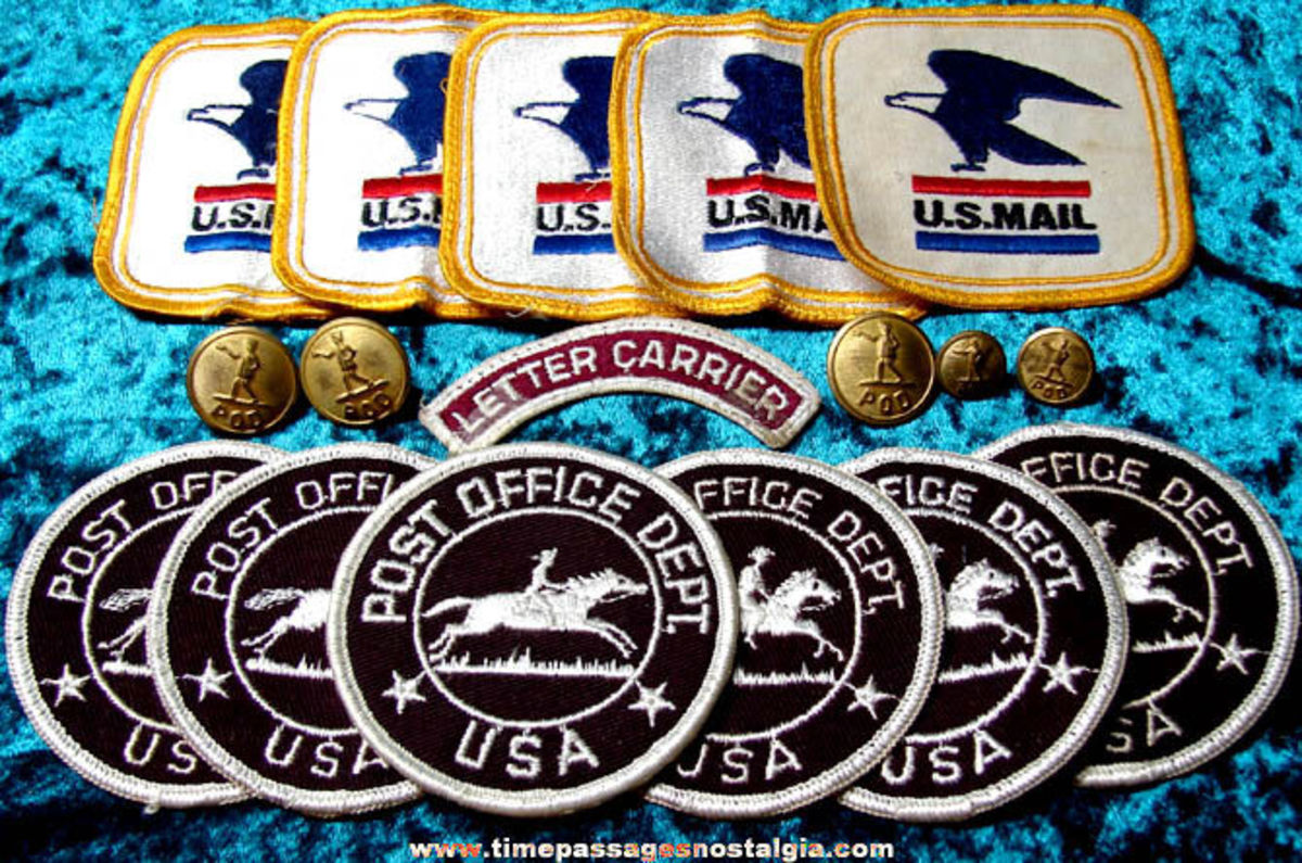 Postal patches from the past