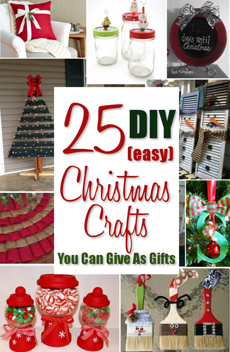 25 Easy DIY Christmas Crafts You Can Give as Gifts
