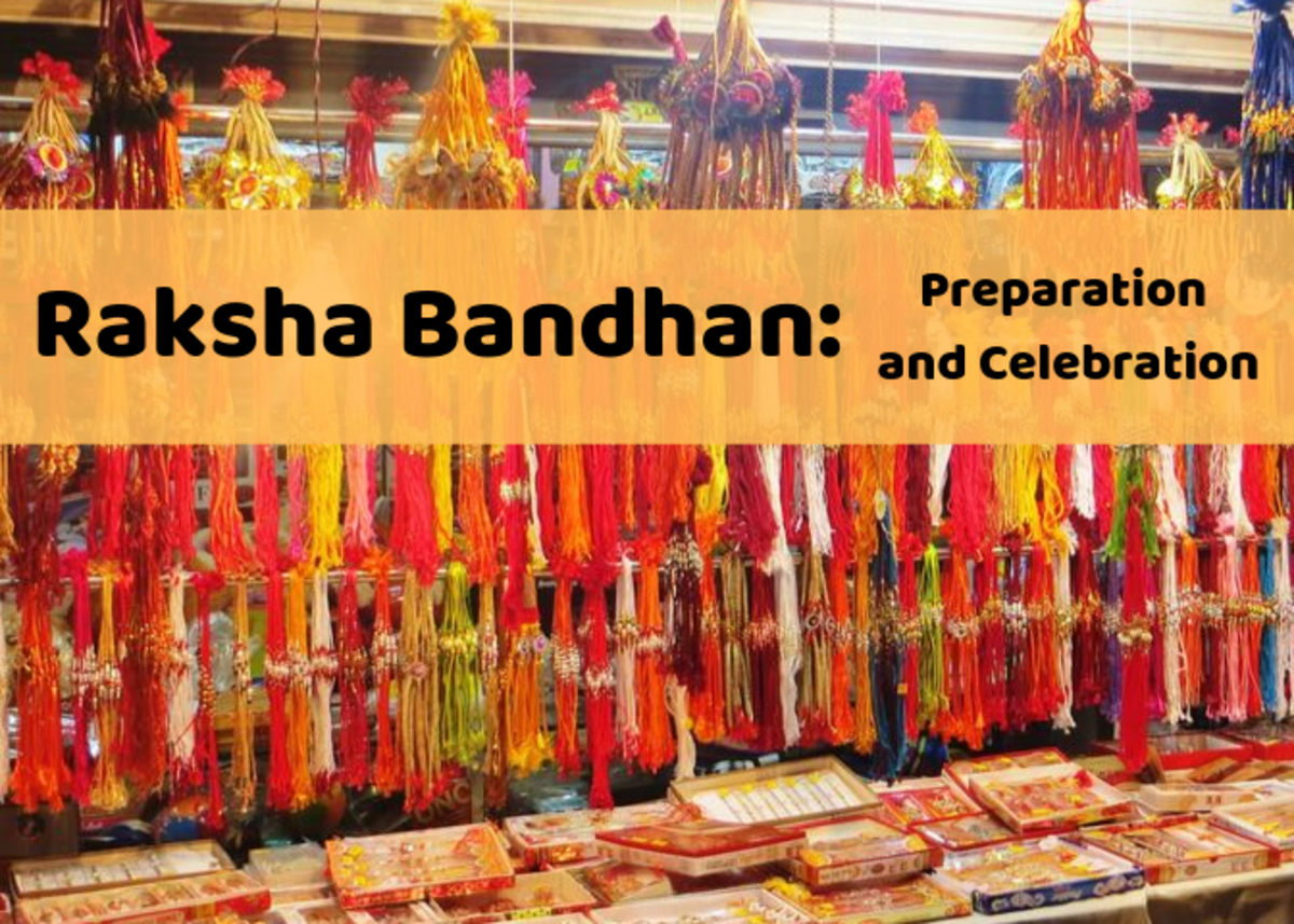 A stall sells rakhis and other items for Raksha Bandhan. Learn more about this holiday celebrating siblings and other relationships!