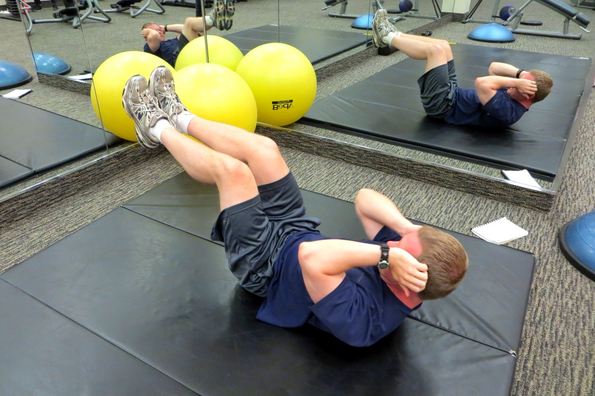 Floor Exercises for Upper, Lower, and Side Oblique Abdominal Muscles