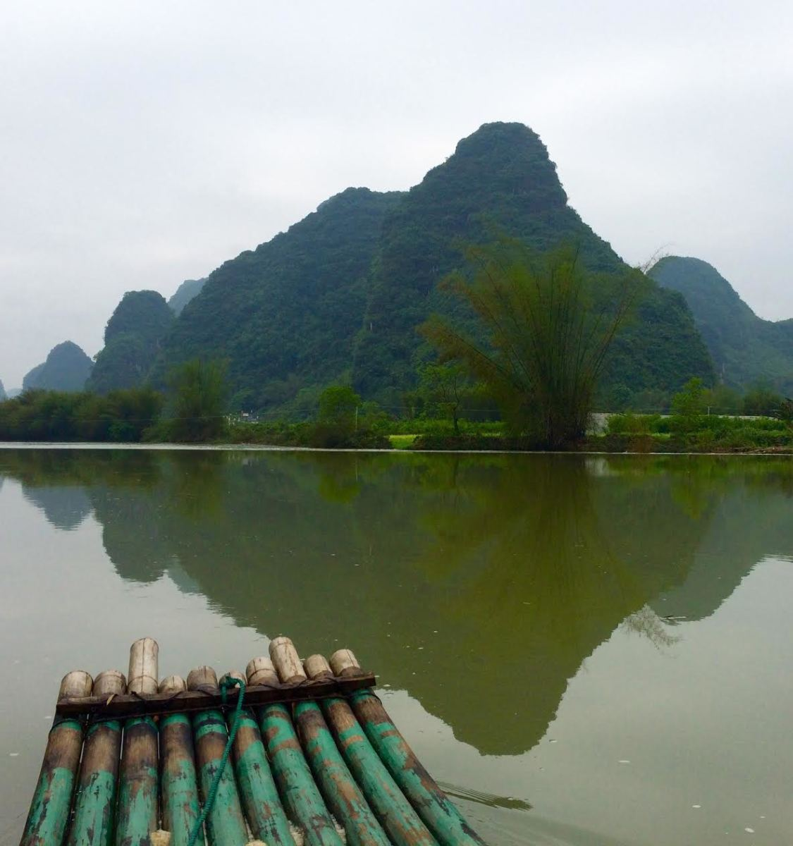 Bamboo raft on the Li River, Yangshuo, Guangzi Zhuang Autonomous Region