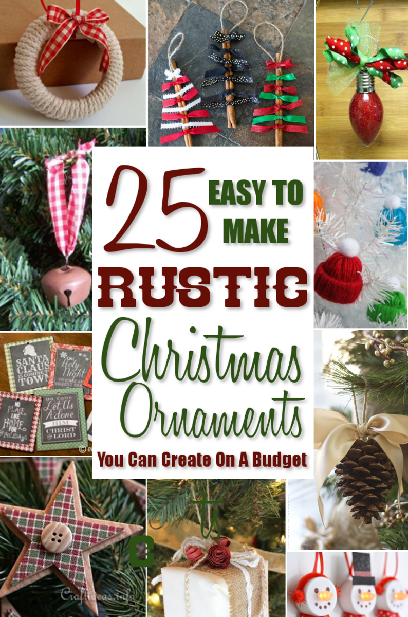 the following are 25 rustic christmas tree ornaments i found in my search for ideas that are easy to make and easy on your budget as well - Rustic Christmas Ornaments