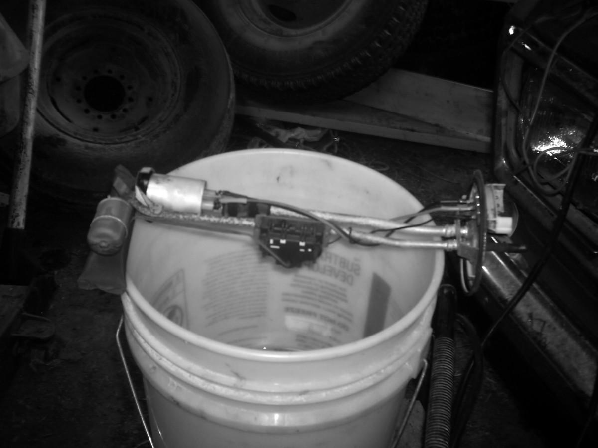 Automotive fuel pump assembly.