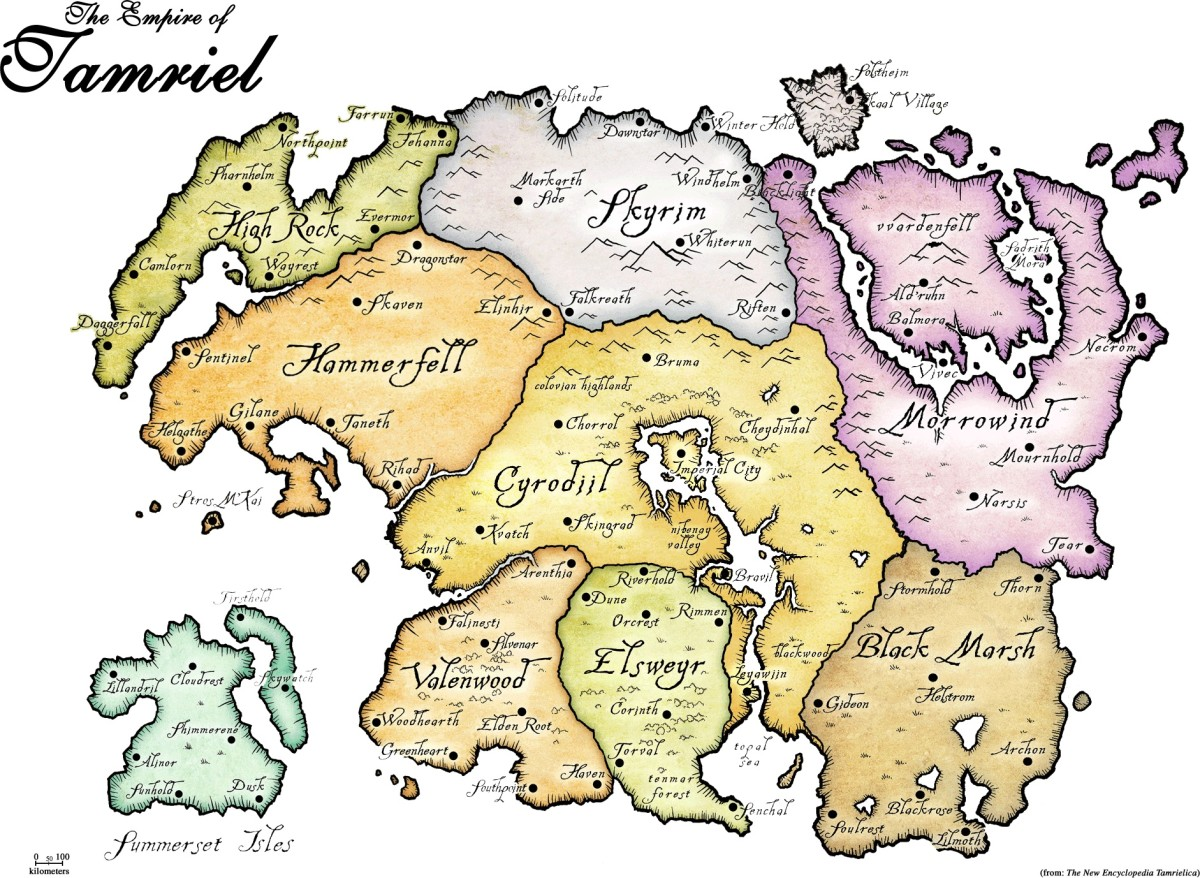 Map of The Empire of Tamriel