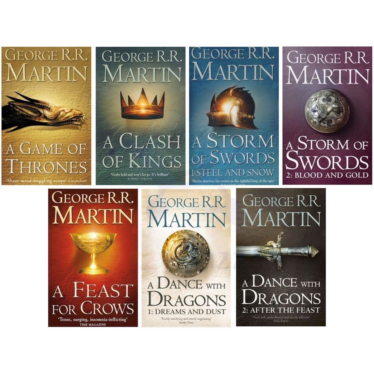 """Collection of """"A Song of Fire and Ice"""" books"""
