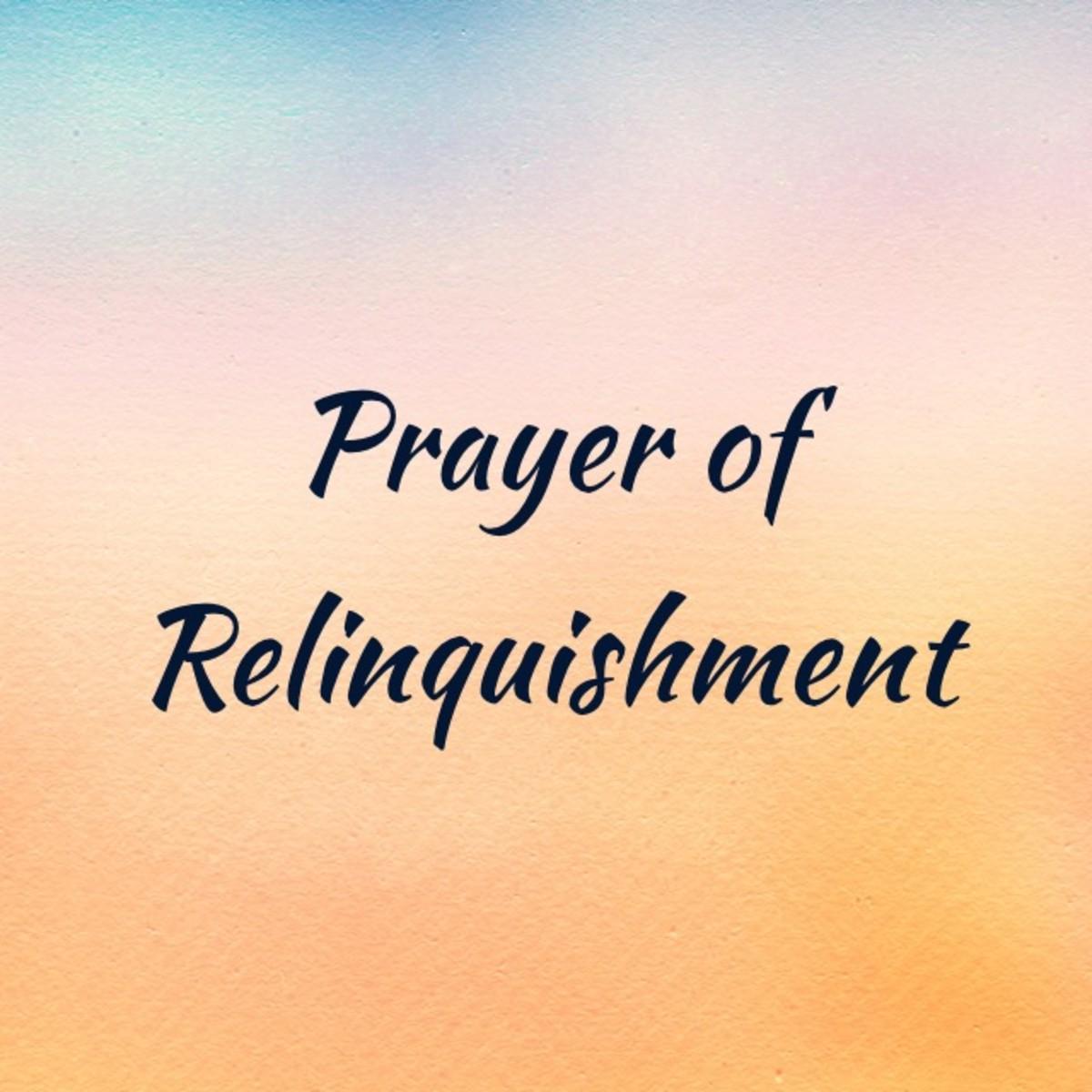 Prayer of Relinquishment