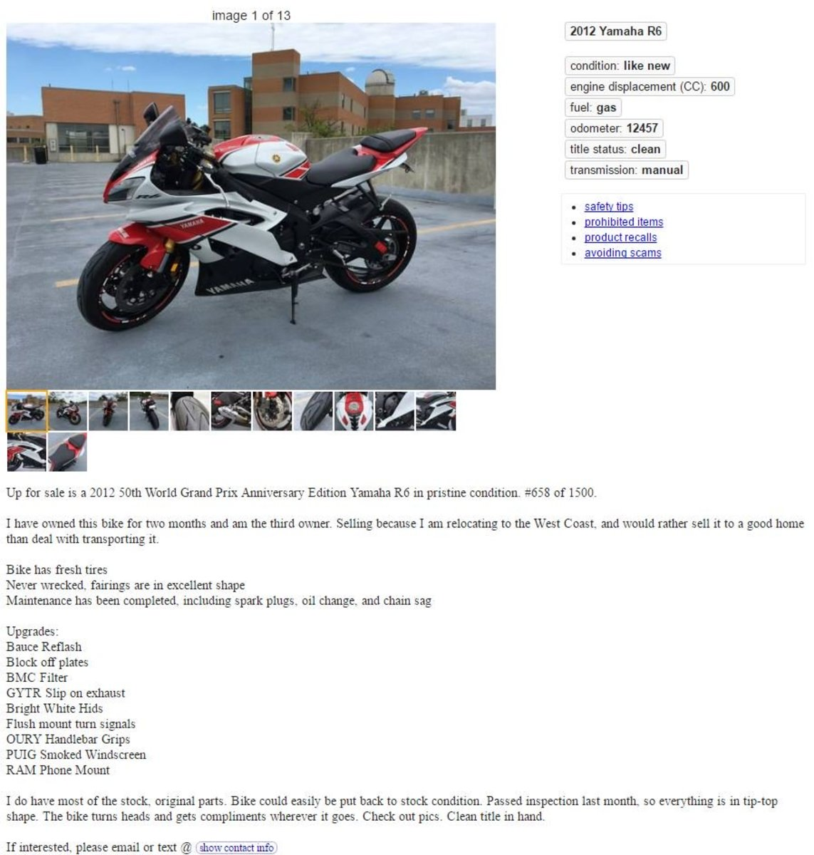 How to Buy a Motorcycle on Craigslist | AxleAddict