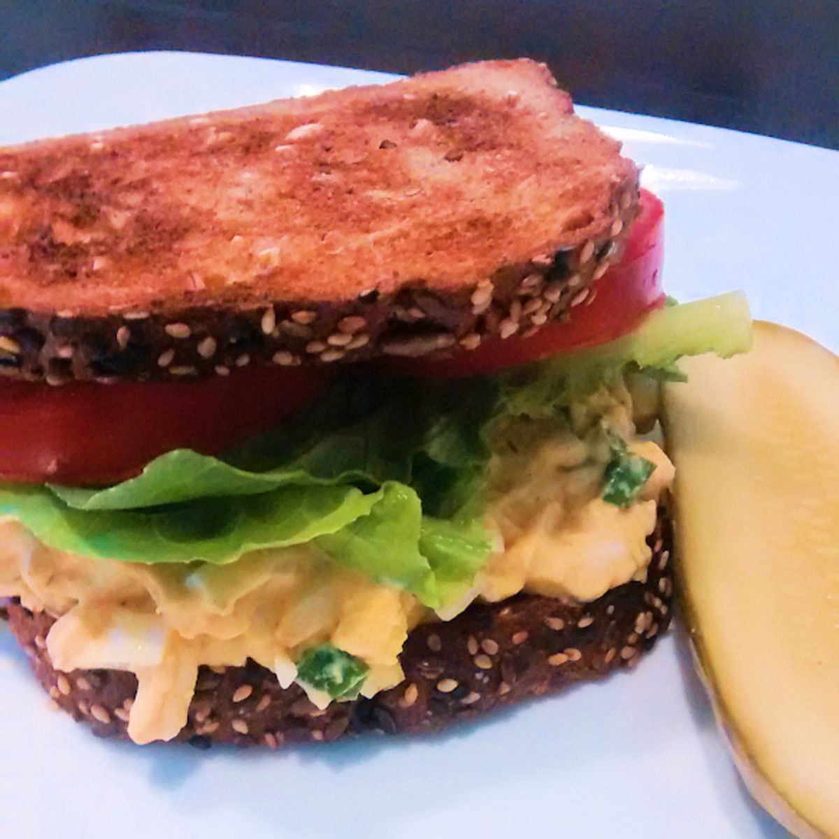 Egg Salad with Green Onions & Horseradish Mustard
