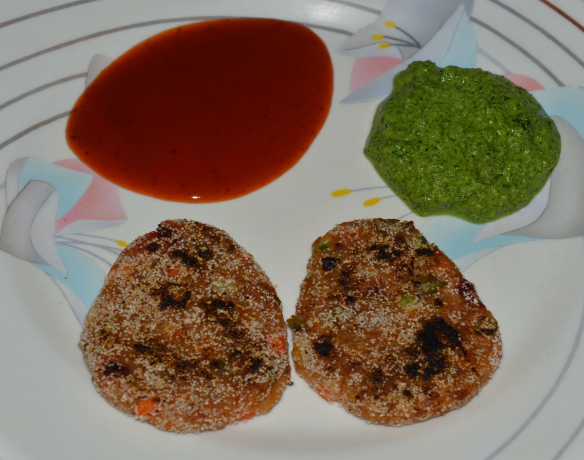Home made vegetable cutlets
