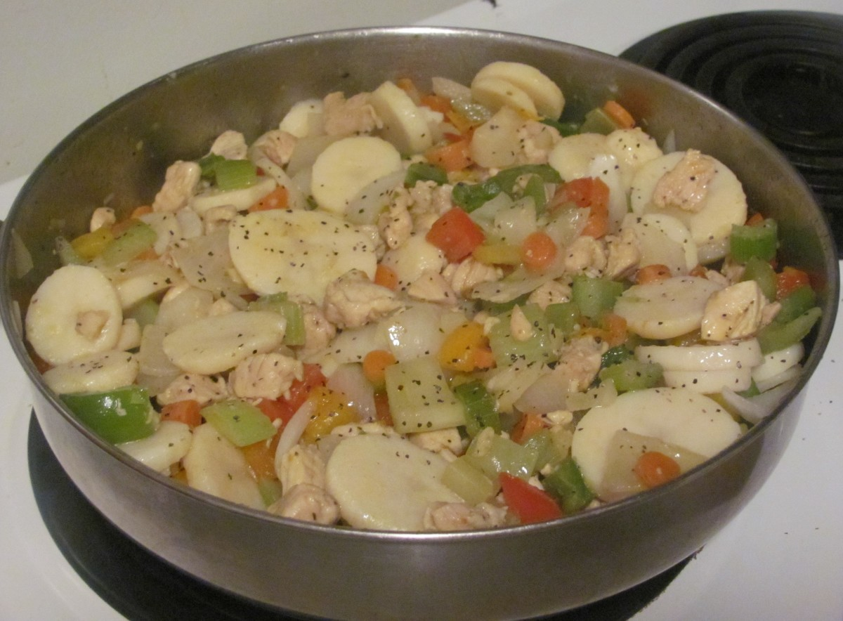 Linda's Chicken Curry Skillet With Vegetables and Potatoes